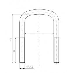 Скоба кріплення ресори STR 50206